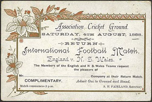 Ticket Lions 1888